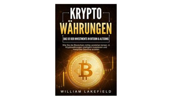 Buch mit Informationen über Investment in Kryptowährungen